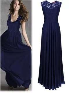 Instocks Navy Blue Dress