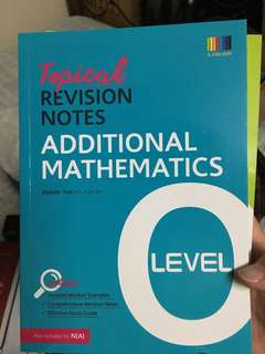 Topical Revision Notes O Level (A Math)
