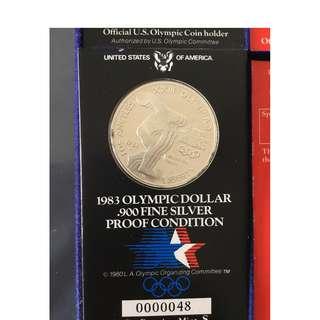 1984 Los Angeles silver coin