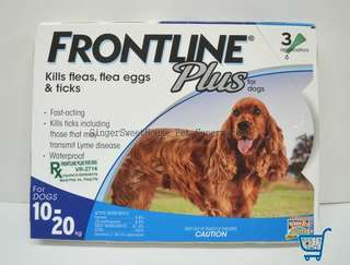 Frontline Plus, for medium breed, 3pcs per box
