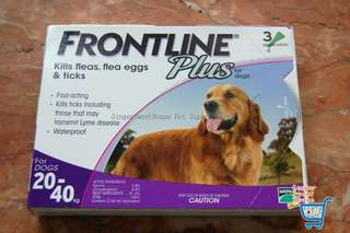 Frontline Plus, for large breed, 3pcs per box