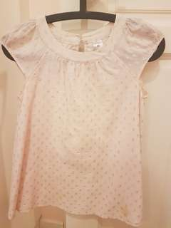 Polka dot Light pink top for girls