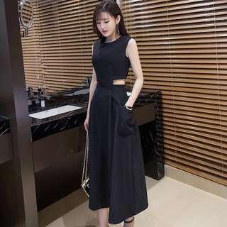 Classy Black Long Dress