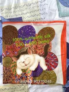 Scarf 100% authentic silk Brand new