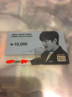 李敏鎬 Lee Min Ho Lotte Duty Free Prepaid card 樂天免稅店預付儲值卡