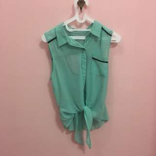 Green Tied Top