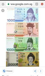 korea Currency notes