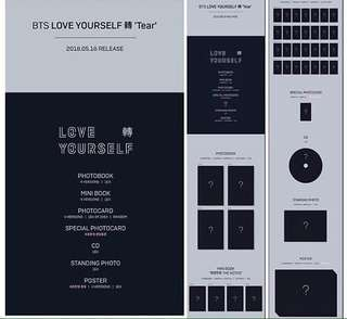 BTS LOVE YOURSELF TEAR ALBUM