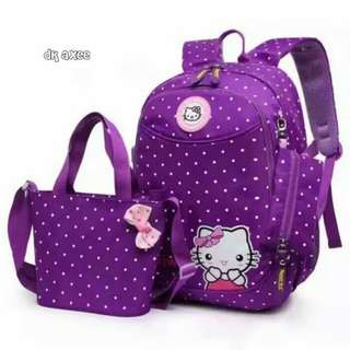 Backpack set hello kitty