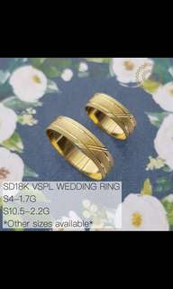 Wedding Ring 18k SD Gold