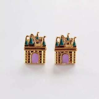 Ready Stock! Korean Cute Castle Earrings Studs