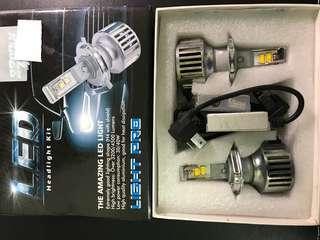 🚚 LED大燈燈泡(1組)H4黃光、近遠燈