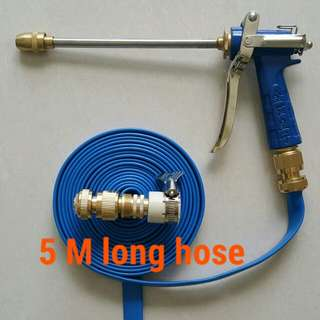 "Charm blue spray gun head (High pressure) with 5 M long foldable hose (The inside diameter is 1/2"" about 12.5mm )"