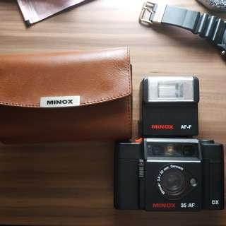 罕有 德國 MINOX 35AF 菲林相機 連閃燈 皮套