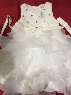 Kids White Gown