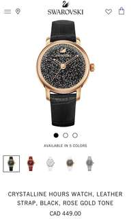 Swarovski Rose Gold and Back Watch