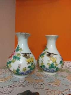 6寸釉下粉彩小瓶(居仁堂製款)Porcelain Vase