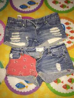 Short shorts 2pcs for 150