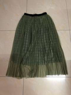 Maxi Skirt in Army Green