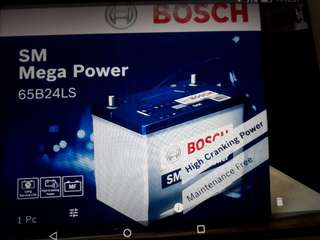 Car Battery Bosch Battery                                                                      SM Mega Power S4 65B24L 52AH CCA480                                                                                      1 Year Warranty