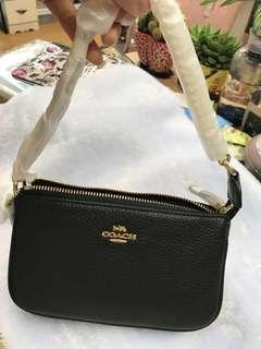 黑色金色LOGO 大手挽袋/可上膊的 Size : 20cmx 12cmx 5.5cm