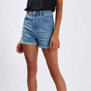 Topshop Moto Girlfriend Denim Shorts