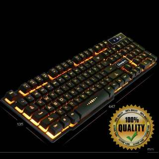 🚚 BN Yellow Backlit with Character Glow Keyboard for Gaming YE98