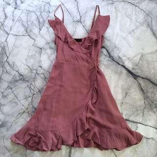 Dusty pink wrap dress 6