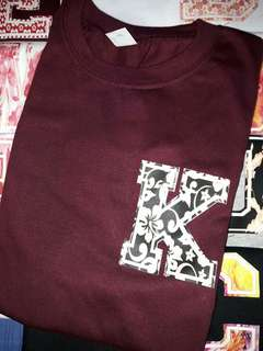 Floral Initial Tee (a-z)