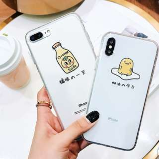 Gudetama & OJ iPhone Case for 6 / 7 / 8 / X