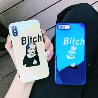 BITCH! Character Punch iPhone Case for 6 / 7 / 8 / X