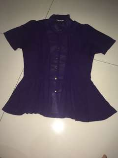 Magnolia purple blouse