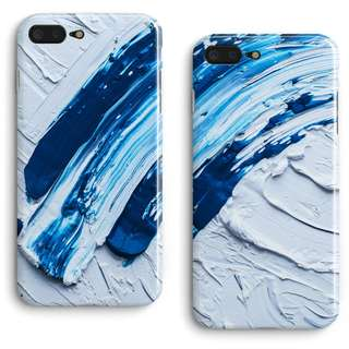 Blue Oil Paint iPhone Case for 6 / 7 / X