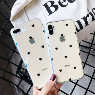 Heart Polka iPhone Case for 6 / 7 / 8 / X