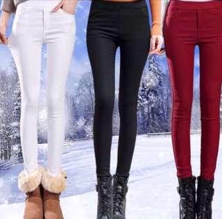 ☃️(S~4XL) Winter Women Elastic Waist Autumn Leggings Thick Velvet Pants☃️
