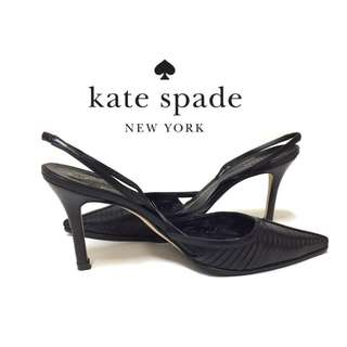 Reduced! KATE SPADE | Black Pointed Heels Slingbacks