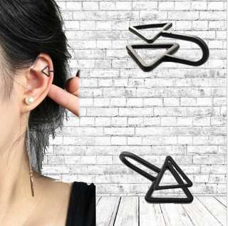 #001 Geometric Clip On Earring