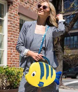 PO Danielle Nicole x Disney, Little Mermaid, Flounder Tote Sling Bag, Japan Disneystore