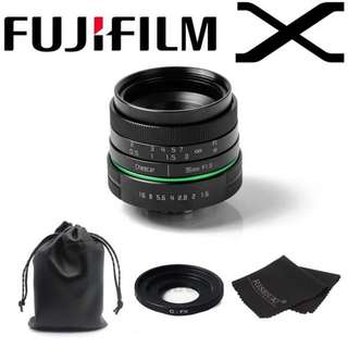 25mm F1.8 APS-C lens Green circle Fujifilm X