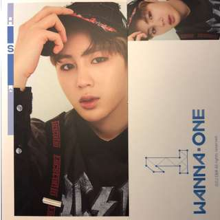 "wanna one ""1 × 1 = 1 (TO BE ONE)"" Ha Sungwoon card ( sky blue ver. )"