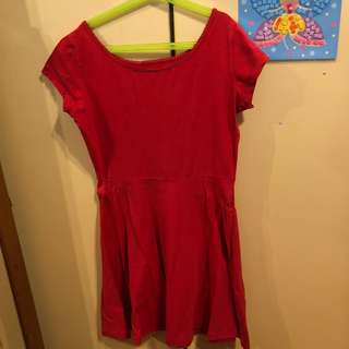 Cotton On Red Babydoll Dress
