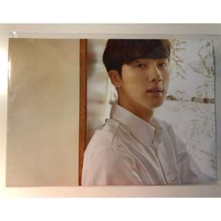 bts jin poster & paper slogan