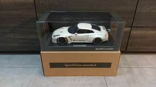 1/18 Ignition Model Nissan Pandem R35 GT-R (Pearl White)