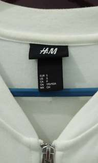 H&M All White Jacket size S