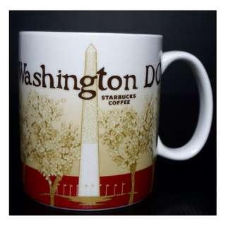 【端午節前任2件物品折扣200】絕版 STARBUCKS 星巴克 美國華盛頓特區 WASHINGTON DC 城市馬克杯