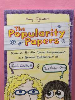 Popularity Papers by Amy Ignatow