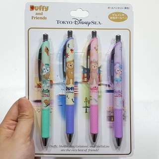 Japan Disneyland Sea Duffy And Friends Pen Set (Duffy, Shellie May, Gelatoni & Stella Lou)