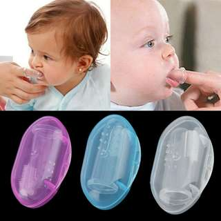Baby Cleaning Silicone Finger Toothbrush Infant Teether