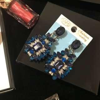藍寶石耳環