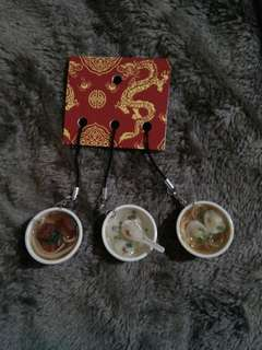 Chinese Food Keychains